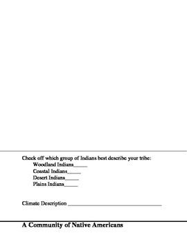 Native American Culture Foldable Template