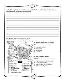 Native American Cultures Pre-Assessment
