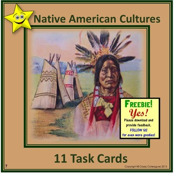 Native American Cultures Task Cards