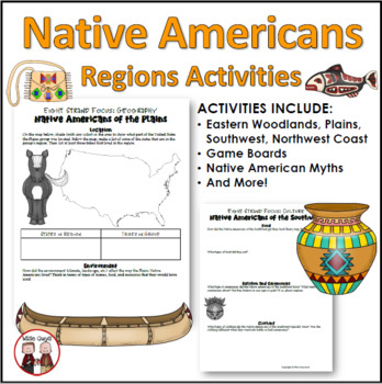 Native Americans Unit Bundle of Printables Worksheets and