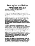 Native American Day Rubrics & Project Description