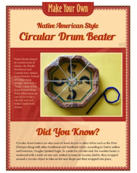 Native American Drum And Craft Bundle (Artwork Included)