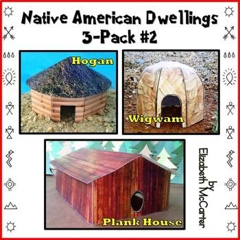 Native American Studies Craft: Dwellings 3-Pack (Pack #2)