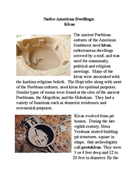 Native American Dwellings: Kivas