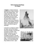 Native American Dwellings: The Teepee