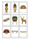 Native American Eastern Woodlands Indians themed Memory Matching preschool game.