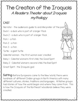 Eastern Woodland Native American Reader's Theater {Leveled Parts}
