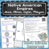 Native American Empires Lesson, Olmec, Inca, Aztec, and Mayan