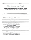 Native American End of Unit Foldable