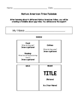 Native American End of Unit (Modified) Foldable
