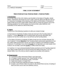 native american essay native american essay packet by tony tsai teachers pay teachers