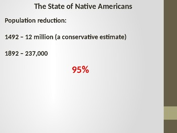 Native American Ethnic Cleansing