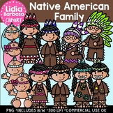 Native American Family: Thanksgiving Clipart {Lidia Barbos