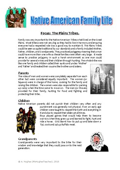 Native American Family Life - The Plains Tribes