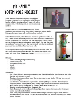native american family totem pole project by teaching to go tpt
