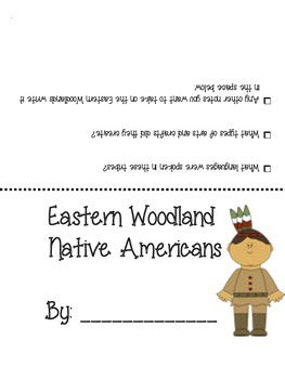 FREE Native American Foldable - East Woodlands, Plains, Southwest and Arctic