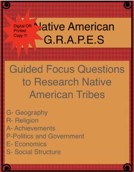 Native American GRAPES organizer