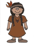Native American Girl Printable Coloring Sheet