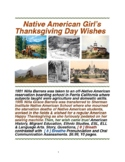 Native American Girl's Thanksgiving Day Wishes