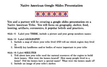 Native American Google Slides Project