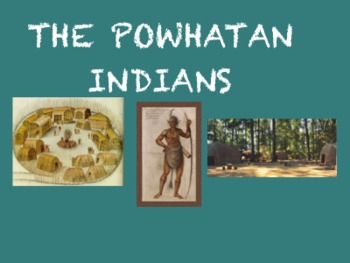 Native American Groups Note-taking (Powhatan, Pueblo, and Lakota)