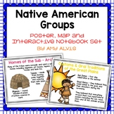 Native American Groups Posters Map and Interactive Noteboo