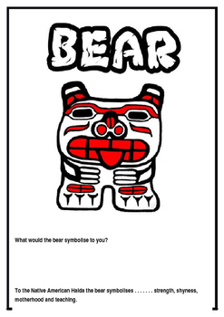 Native American Haida symbols.