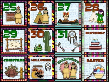 Native American Heritage Calendar Set.