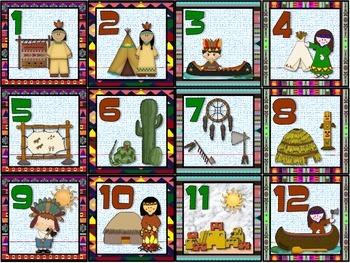 Native American Heritage Calendar Set.