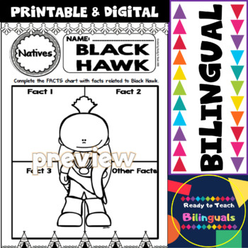 Native American Heritage Month - Black Hawk - Worksheets and Reading - Dual Set