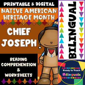 Native American Heritage Month - Chief Joseph - Worksheets and Reading - Dual