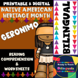 Native American Heritage Month - Geronimo - Worksheets and Reading - Dual Set