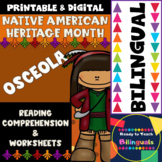 Native American Heritage Month - Osceola - Worksheets and Reading - Dual Set