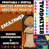 Native American Heritage Month - Sacajawea - Worksheets and Reading - Dual Set