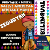 Native American Heritage Month - Sequoyah - Worksheets and Reading - Dual Set