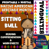 Native American Heritage Month - Sitting Bull - Worksheets and Reading - Dual