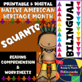 Native American Heritage Month - Squanto - Worksheets and Reading - Dual Set