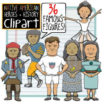 Native American Heroes + History Clip Art