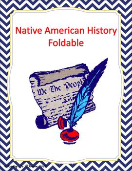 Native American History Foldable