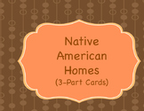 Native American Homes (3 part cards)