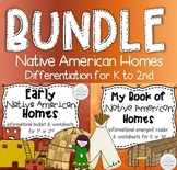 Native American Homes BUNDLE for Differentiation