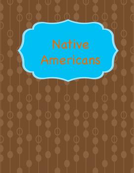 Native American Unit Booklet