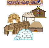 Native American Homes Clipart set