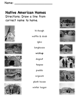 Native American Homes Matching