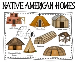 Native American Homes Poster