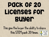Native American Homes STEM ~ PACK OF 20 LICENSES for BUYER