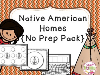 Native American Homes Unit {NO PREP}