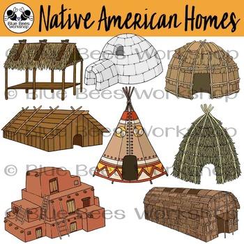 Native American Housing Clip Art
