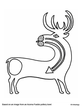 Native American Indian Art Coloring Pages