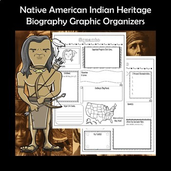Native American Indian Heritage Biography Research Graphic Organizers